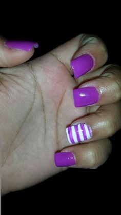 Purple with stripes