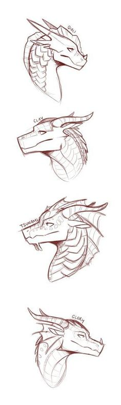 """""""Wings of Fire"""" these are some of my favourite dragons by SylvernStreak Animal Sketches, Animal Drawings, Art Sketches, Wings Of Fire Dragons, Dragon Sketch, Mythical Creatures Art, Dragon Artwork, Creature Drawings, Poses References"""