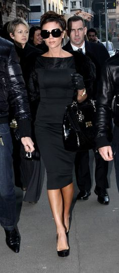 Love her lady like style....posh with an edge.... Victoria Beckham Photo - Victoria Beckham Sightings In Milan