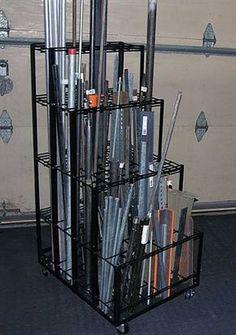 welding shop Vertical Material Rack, by J. Steel Storage Rack, Steel Racks, Metal Rack, Metal Shop, Metal Workshop, Workshop Storage, Garage Workshop, Tool Storage, Storage Bins