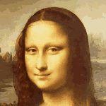 Mona LIsa winking gif