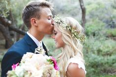 Boho Chic-Veil of Grace | Gorgeous bride marries at 1909 in Topanga Canyon