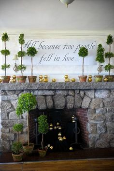 Idea for fireplace decore from my wedding.