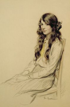 Portrait of a Young Girl, Frederick Pegram