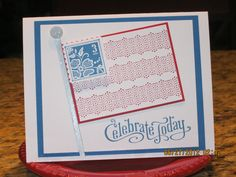 Card cased from createdbyu.blogspot.com    What a simple 4th of July Card - Stampin Up!!