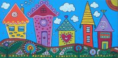 DSC07623 Drawing For Kids, Art For Kids, School Murals, Art Village, Cute Paintings, Art Prompts, Building Art, Country Art, Diy Arts And Crafts
