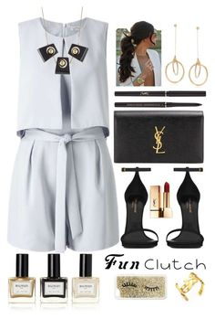 """""""Cute clutch II"""" by staceybuijs ❤ liked on Polyvore featuring Miss Selfridge, Yves Saint Laurent, Ross-Simons, Balmain and Marni"""