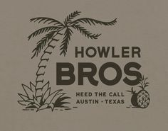 We use our Howler Select T's as the canvas for classic Howler designs and original creations. The Select T's are slightly slimmer in fit than our Classi. Vintage Typography, Typography Letters, Typography Design, Logo Design, Lettering, Surf, Great Logos, Graphic Design Inspiration, Packaging Design