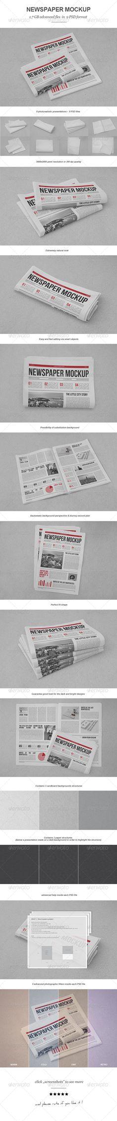 Newspaper Mock-up #design Download: http://graphicriver.net/item/newspaper-mockup/7424162?ref=ksioks