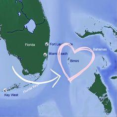 37 Desirable Maps of Bimini & The South East Florida coastline ...