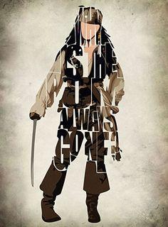 Captain Jack Sparrow | #typography #jacksparrow #design