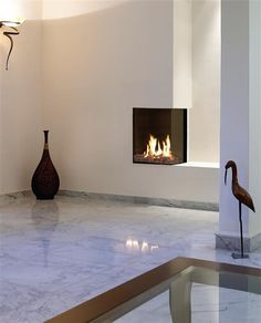 Ortal Clear 40 RS/LS Fireplace - modern - fireplaces - denver - Home and Hearth Outfitters Fireplace Fronts, Corner Gas Fireplace, Direct Vent Gas Fireplace, Small Fireplace, Fireplace Wall, Living Room With Fireplace, Fireplace Design, Custom Fireplace, Electric Fireplace