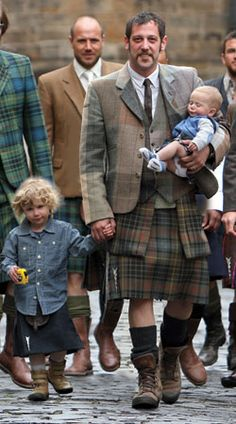 Howie Nicholsby's 21st Century Kilts offer a unique take, and are a fitting homage, to a traditional Scottish style. The use of original textiles, ranging from leather, gold and purple denim, camouflage, to pinstripe offer something different to those fond of this age old item.  Howie's aim was simple - to give men throughout the world a realistic alternative to trousers. 21st CENTURY KILTS were borne in 1996 and launched in 1999 at London Mens Fashion Week.
