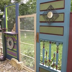 (4) The Fence (recycling Old Doors and Windows)