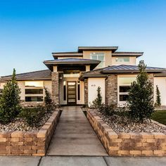 The Scott's Bluff house plan. A house plan designed by Walker Home Design. Dream Home Design, Home Design Plans, Modern House Design, Modern Prairie Home, Prairie House, Style At Home, Prarie Style Homes, Industrial House, Industrial Shelving