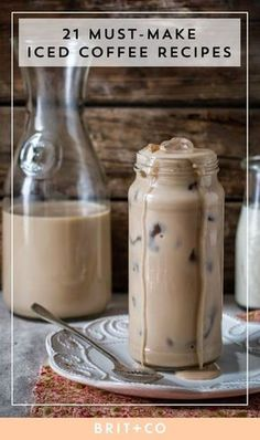 Refreshing Iced Coffee Recipes Shop smarter, with 's universal shopping cart browser extension. Vanilla Iced Coffee, Iced Cappuccino, Healthy Iced Coffee, Blended Ice Coffee, Homemade Iced Coffee, Coffee Health, Vanilla Syrup, Diy Cold Brew Coffee, Cold Coffee Drinks