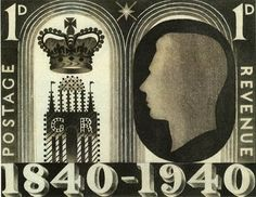 Eric Ravilious' unpublished design for the Adhesive Stamp Centenary, 1940