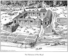 The Habitation of Port Royal was the first permanent white settlement in America, north of the Spaniards. We have some scanty descriptions of it in the writings of Champlain and Lescarbot, and a few references in the Jesuit Relations. Canadian Facts, Canadian History, Fantasy Castle, Medieval Fantasy, Quebec, Acadie, Naruto Vs Sasuke, Fur Trade, Port Royal
