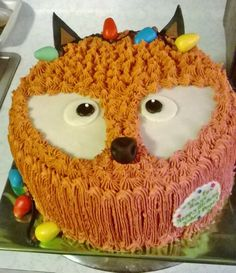 """""""What Does the Fox Say?"""" Christmas Cake"""