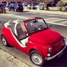 Vintage Fiat 500 Cabrio / / lustige Fahrt – Andrea Febbraio – Join in the world Fiat Cinquecento, Fiat 500c, Fiat Abarth, Fiat 500 Cabriolet, Fiat Cars, Cute Cars, Small Cars, Vespa, Motor Car