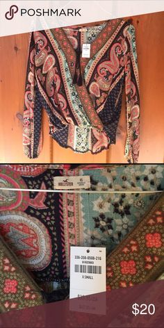 XS Hollister Boho Gypsy Hippie Top size: xs, condition: new with tags, fabric content:  100% viscose Hollister Tops Blouses