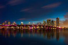 Photography Tours, Night Photography, Amazing Photography, Miami Sunset, Miami Photos, Miami Skyline, Art Deco Buildings, Epic Photos, Famous Places