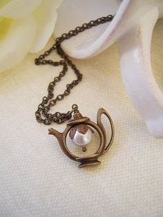 teapot necklace