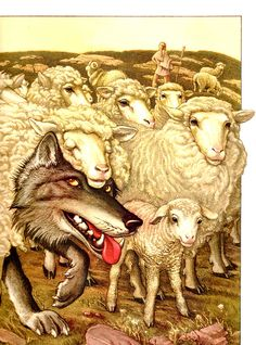 Charles Santore. Wolf in Sheep's Clothing