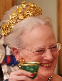 Tiara Mania: Queen Margrethe II of Denmark's Naasut Tiara Denmark Royal Family, Danish Royal Family, Royal Tiaras, Tiaras And Crowns, Adele, Queen Margrethe Ii, Danish Royalty, Royal Queen, Royal Brides