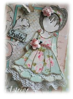 Poupée prima version shabby chic