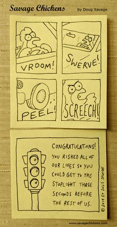 Savage Chickens, Sticky Notes, The Creator, Congratulations, Humor, Funny Stuff, Comics, Funny Shit, Humour