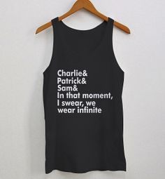 The Perks Of Being A Wallflower Woman Tank Top  by Sarimbittees, $19.99