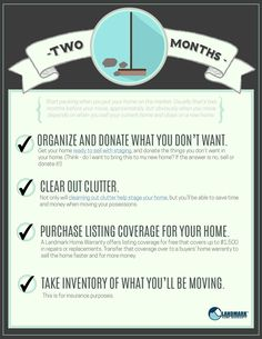 What to do two months before your move.