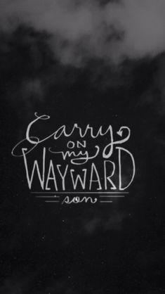 Carry On My Wayward Son Lockscreens Supernatural Background Supernatural Fandom Supernatural Wallpaper Iphone