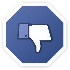 11 Things You Need to Immediately Stop Doing on Facebook image dislike button stop sign 685x6851
