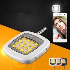 Mini Portable 16 LED Spotlight Camera led flash fill light for iPhone and Android Devices for External Flash Fill Selfie Light Phone Lens, Camera Phone, Selfies, Buy Smartphone, Apple Iphone 7 32gb, Novelty Lighting, Fill Light, All Smartphones, Flashlight