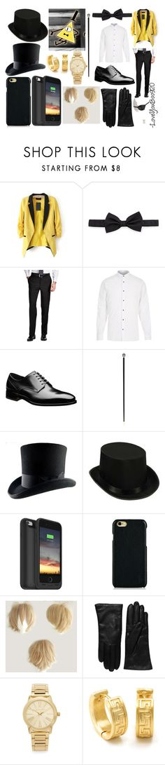 """Bill cipher"" by loveyouboo920 on Polyvore featuring Lanvin, River Island, Pasotti Ombrelli, Mophie, Polo Ralph Lauren, Saks Fifth Avenue Collection, Michael Kors, King Ice, Masquerade and men's fashion"