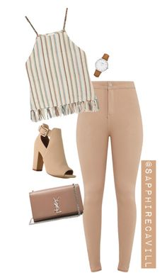 """Untitled #577"" by sapphirecavill on Polyvore featuring Miguelina, Yves Saint Laurent and CLUSE"