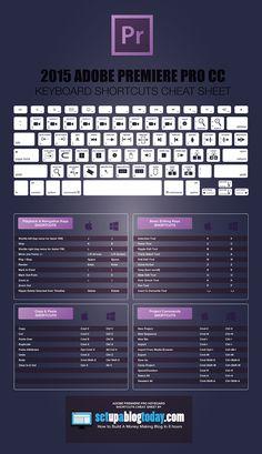 Adobe Premiere Pro Keyboard Cheat Sheet                                                                                                                                                                                 More