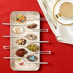 Sweet spoons! Show your guests who's the real barista by offering them sweet spoons to swirl extra flavor into coffee or hot chocolate.