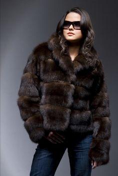 Russian Barguzin Siberian Sable Fur  Jacket