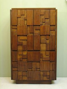 1970s Brutalist cabinet - I really, really love this! #contemporary