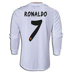 adidas Cristiano Ronaldo Real Madrid Long Sleeve Home Jersey 13/14 Image