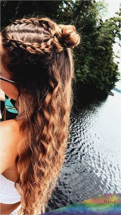 Cute Hairstyles For Teens, Easy Hairstyles For Long Hair, Hairstyles For School, Pretty Hairstyles, Sporty Hairstyles, Athletic Hairstyles, Hairstyles 2018, Protective Hairstyles, Coco Hair