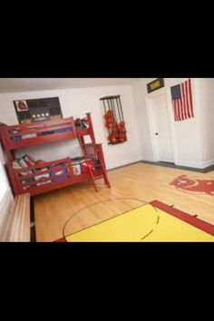 Cool basketball room! Forget boys rooms. I want this!