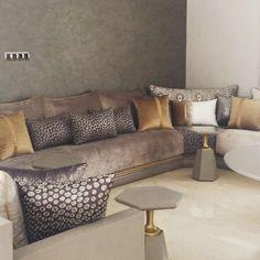 he whole view of the Moroccan living ✨✨✨ Le salon marocain en entier ✨✨✨ Home Decor Furniture, Home Decor Bedroom, Home Living Room, Living Room Decor, Moroccan Room, Moroccan Interiors, Home Room Design, Living Room Designs, Sofa Design