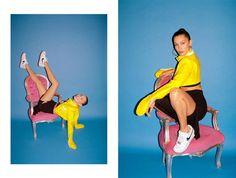Bella Hadid in Unreleased Nike Air Force 1s for Footwear News Bella Hadid Nike, Underground Club, American Guy, Aesthetic Women, Poses, These Girls, Nike Air Force, Street Wear, Photoshoot