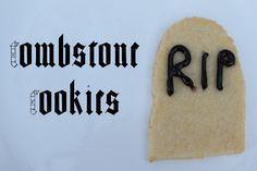 Tombstone cookies: Fun recipe for Halloween!