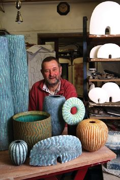 Peter Beard maker of amazing pottery by rochelle