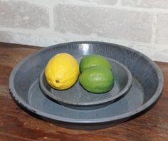 Enamelware pie plate set 10 and 6.25 inch Farmhouse rustic